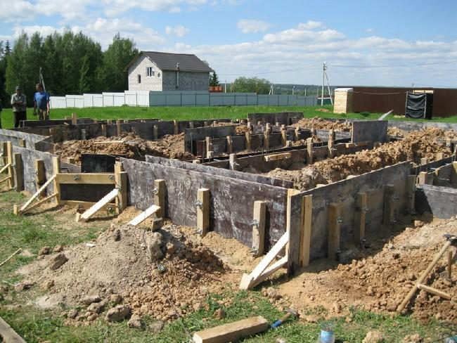 Строительство ленточного фундамента в Череповце цена