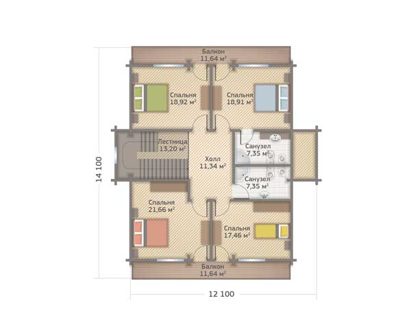 Проект и план дома из бруса