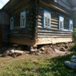 Поднять дом в Вологде, заменить венцы и фундамент