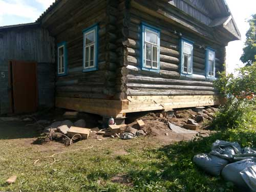 Как поднять дом на домкратах в Череповце