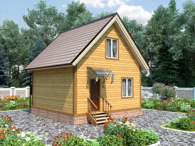 Дом из бруса 6м на 6м летний цена