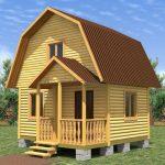 Дом 5м\5м из бруса цена