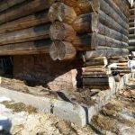 Фундамент для деревянного дома, ремонт